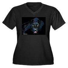 Black Panther Women's Plus Size V-Neck Dark T-Shir