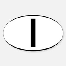 Italy - I - Oval Oval Decal