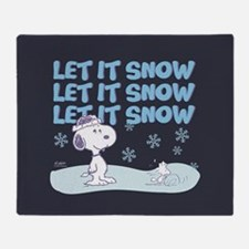 Let It Snow Full Bleed Throw Blanket