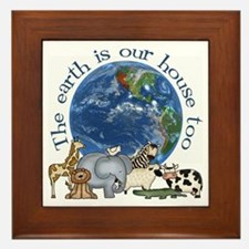 The Earth Is Our House Too Framed Tile