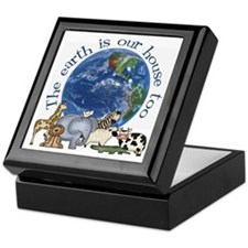 The Earth Is Our House Too Keepsake Box