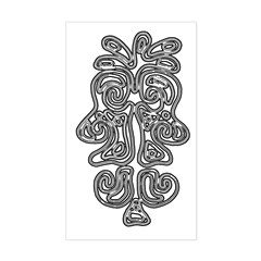 Tribal Faces Rectangle Decal