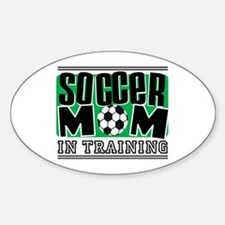 Soccer Mom In Training Oval Decal