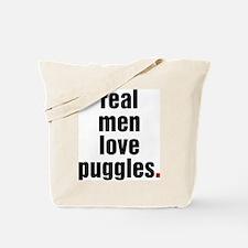 Real Men Love Puggles Tote Bag