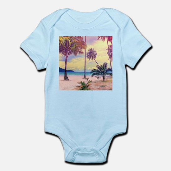 Tropical Beach Infant Bodysuit