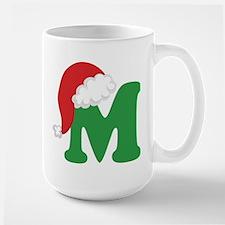 Christmas Letter M Alphabet Mugs