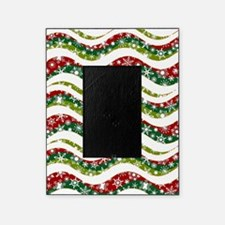 Christmas waves and snowflakes Picture Frame
