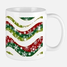 Christmas waves and snowflakes Mugs