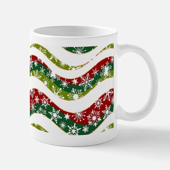 Christmas waves and snowflakes Mugs