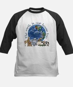 The Earth Is Our House Too Kids Baseball Jersey