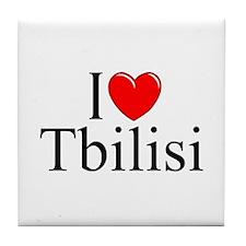 """""""I Love Tbilisi"""" Tile Coaster"""