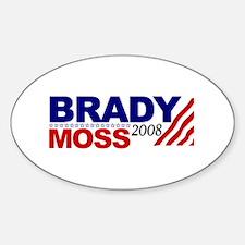 Brady Moss 2008 Oval Decal