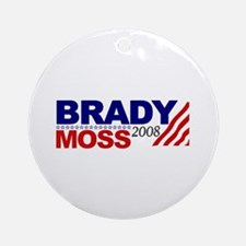 Brady Moss 2008 Ornament (Round)