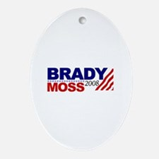 Brady Moss 2008 Oval Ornament