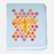Jewel Toned Bee baby blanket