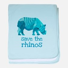 Save the Rhinos baby blanket