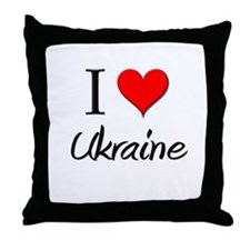 I Love Uganda Throw Pillow