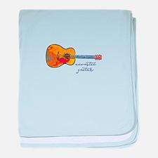 Acoustic Guitar baby blanket