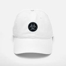 Gray Stone Biohazard Symbol Baseball Baseball Cap
