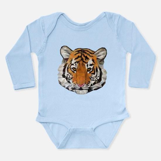 Tiger Cub Low Poly Triangle Geometric Body Suit