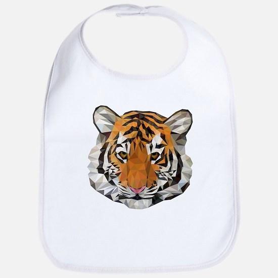 Tiger Cub Low Poly Triangle Geometric Bib