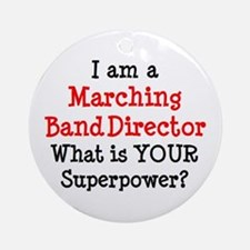 marching band director Round Ornament