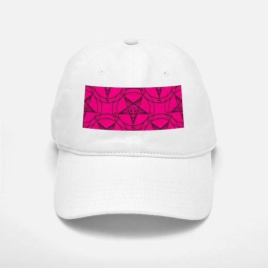 pink baphomet Cap