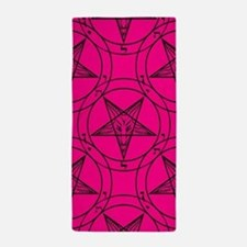 pink baphomet Beach Towel