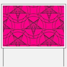 pink baphomet Yard Sign