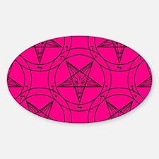pink baphomet Decal