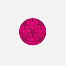pink baphomet Mini Button