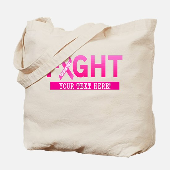 Fight Cancer Ribbon Personalized Tote Bag