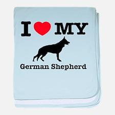 I love my German Shepherd baby blanket
