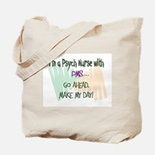 Funny Rn psych Tote Bag