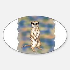 meerkat solo Oval Decal
