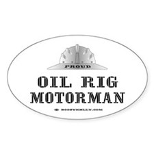 Motorman Oval Decal