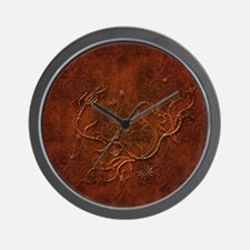 Wonderful abstract floral design Wall Clock
