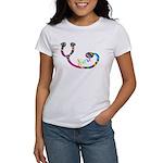 NURSE Gay Rainbow Stethoscope HUGE T-Shirt