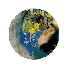 """Unique Artistic flower 3.5"""" Button (100 pack)"""