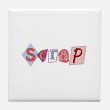 Scrap (Scrapbooking) Tile Coaster