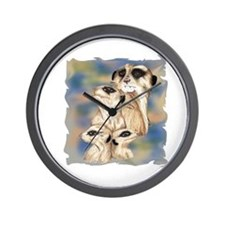 meerkat group Wall Clock