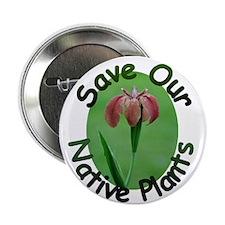"Save Native Plants LA Iris 2.25"" Button"