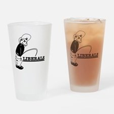 Anti Liberal designs Drinking Glass