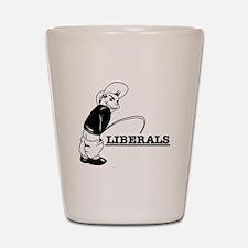 Anti Liberal designs Shot Glass