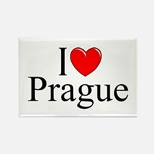 """I Love Prague"" Rectangle Magnet"