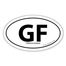 French Guiana country bumper sticker -White (Oval)