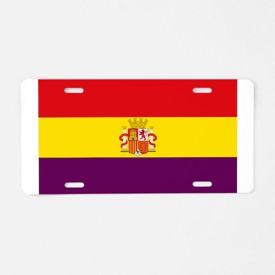 Flag of the Spanish Republi Aluminum License Plate