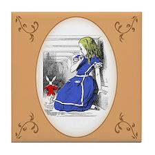Funny Alice wonderland Tile Coaster