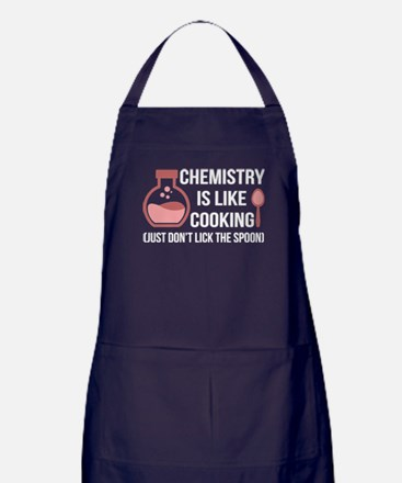 Chemistry is like cooking Apron (dark)