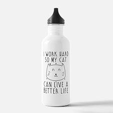 I work hard... Sports Water Bottle